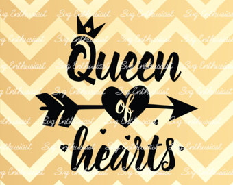 Queen of hearts arrow clipart clipart freeuse Queen of hearts svg | Etsy clipart freeuse