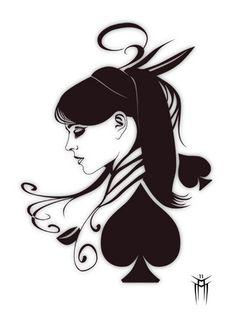 Queen of hearts arrow clipart clip free queen of hearts tattoo | atomik: Queen of Hearts Tattoo ... clip free