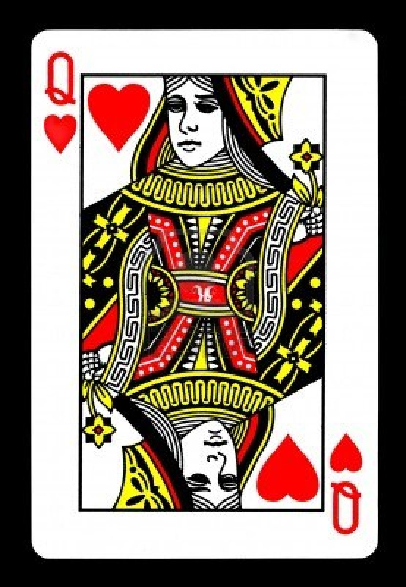 Queen of hearts card clipart jpg free library Queen Card Clipart - Clipart Kid jpg free library