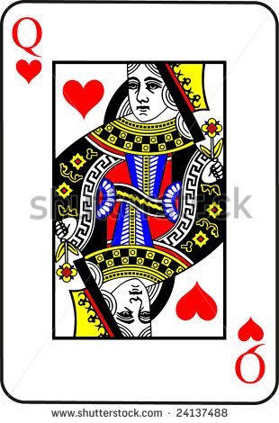 Queen of hearts card clipart vector freeuse stock Queen Of Hearts Playing Card Stock Vectors & Vector Clip Art ... vector freeuse stock