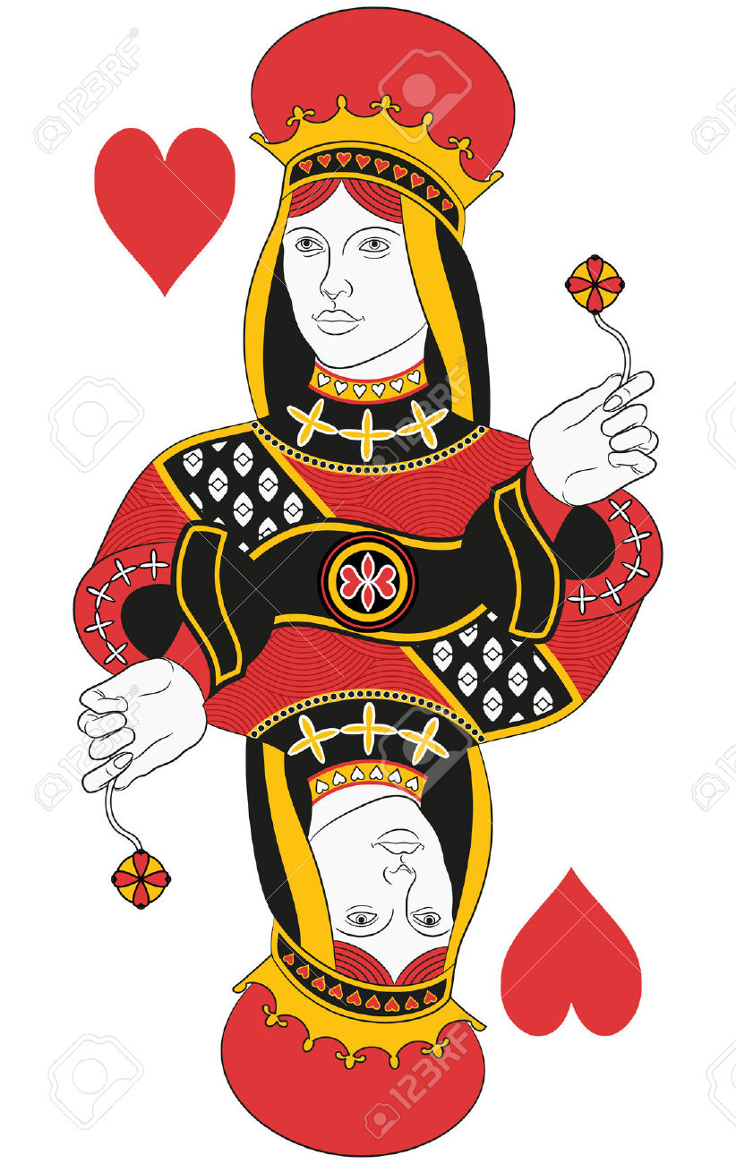 Queen of hearts card clipart clip art free library Queen Of Hearts Images & Stock Pictures. Royalty Free Queen Of ... clip art free library