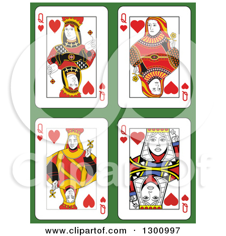 Queen of hearts card clipart graphic royalty free Royalty-Free (RF) Clipart of Queen Of Hearts, Illustrations ... graphic royalty free