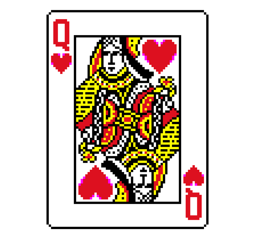 Queen of hearts card clipart image transparent library Queen Card Clipart - Clipart Kid image transparent library