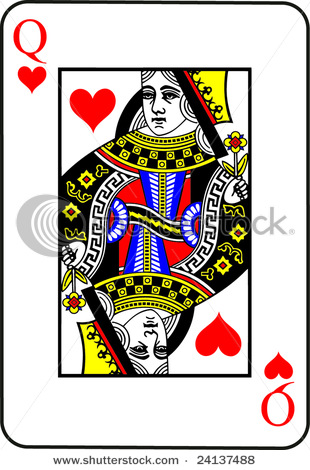 Queen of hearts card clipart black and white Queen of hearts playing card clipart - ClipartFest black and white