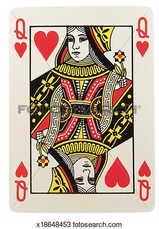 Queen of hearts card clipart jpg stock Queen Card Clipart - Clipart Kid jpg stock