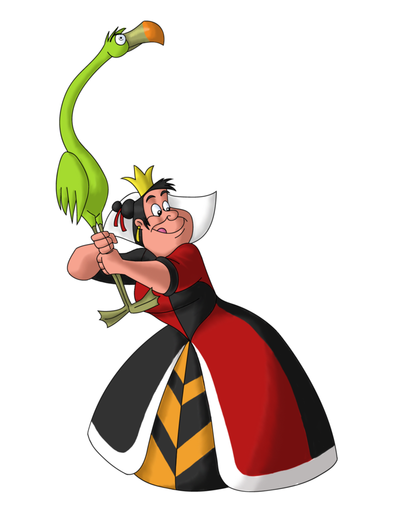 Queen of hearts disney clipart vector black and white download Disney Villain October 15: The Queen of Hearts by PowerOptix on ... vector black and white download