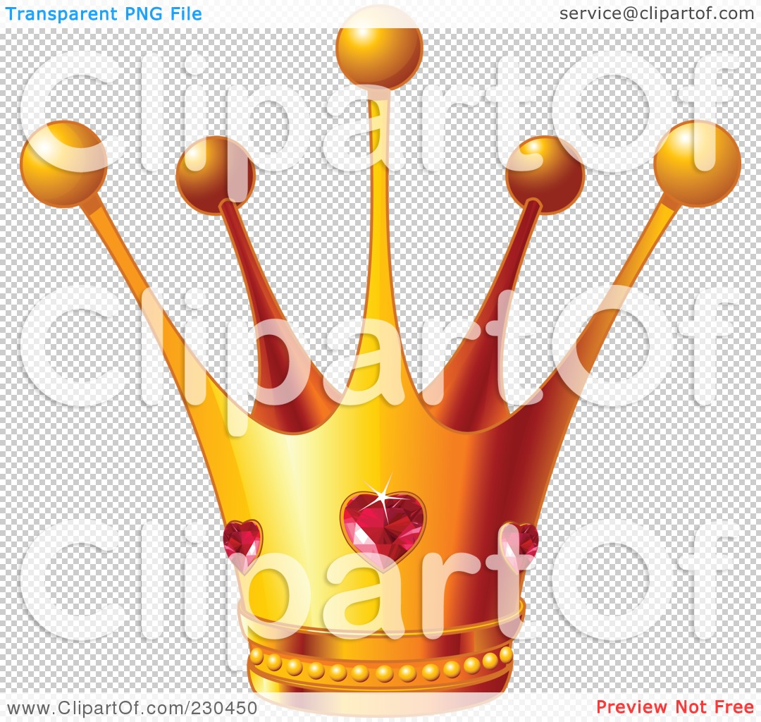 Queen of hearts clipart with no background graphic royalty free stock Royalty-Free (RF) Clipart Illustration of a Queen's Golden Crown ... graphic royalty free stock
