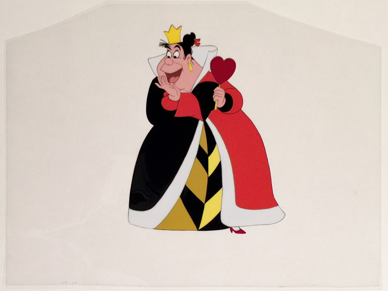 Queen of hearts clipart with no background image freeuse Animation Collection: Original Production Cel of The Queen of ... image freeuse