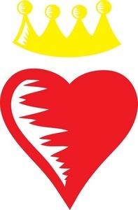 Queen of hearts crown clipart vector transparent library Heart crown clipart - ClipartFest vector transparent library