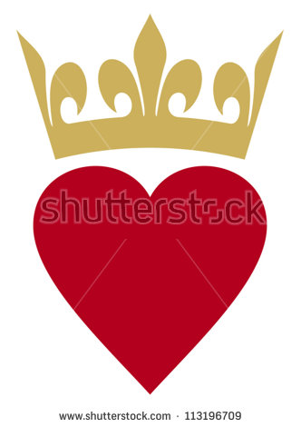 Queen of hearts crown clipart banner black and white library Queen Of Hearts Stock Images, Royalty-Free Images & Vectors ... banner black and white library