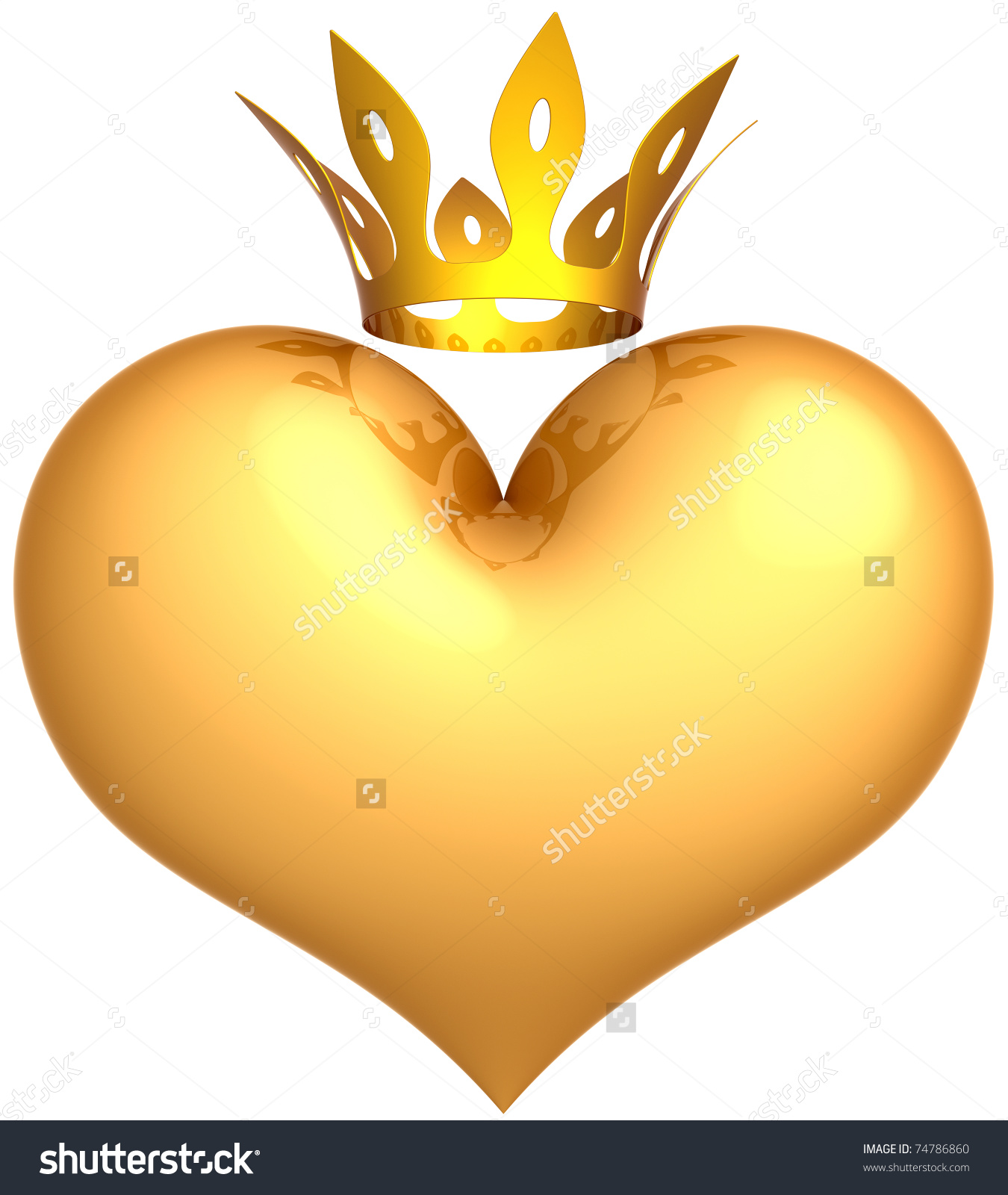 Queen of hearts crown clipart transparent download Heart King Golden Crown Abstract Royal Stock Illustration 74786860 ... transparent download