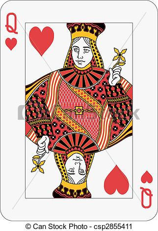 Queen of hearts playing card clipart clipart freeuse stock Queen hearts Stock Illustrations. 2,582 Queen hearts clip art ... clipart freeuse stock