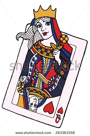 Queen of hearts playing card clipart picture download Queen Of Hearts Playing Card Stock Images, Royalty-Free Images ... picture download