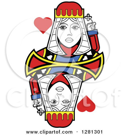Queen of hearts playing card clipart banner transparent library Queen of hearts playing card clipart - ClipartFest banner transparent library