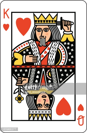 Queen of hearts playing card clipart picture freeuse download King And Queen Of Hearts Playing Card Vector Art | Getty Images picture freeuse download