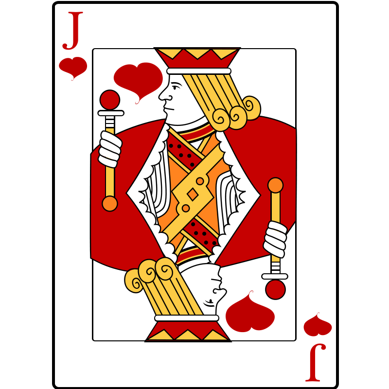 Play money clipart free svg royalty free stock playing cards | Free Jack of Hearts Playing Card Clip Art | cards ... svg royalty free stock