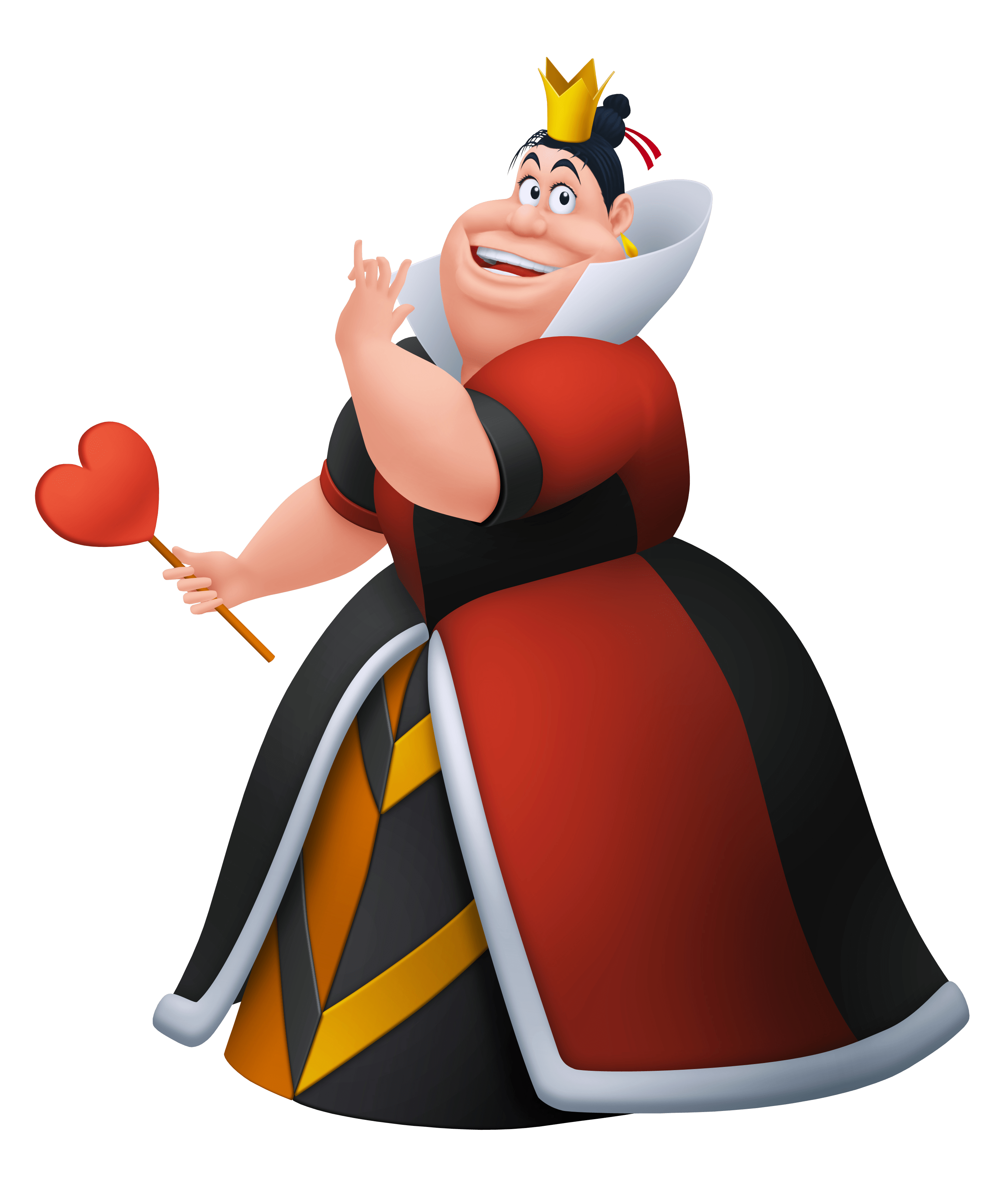 Queen of hesrts arrow clipart svg black and white stock Top 10 Disney Villains – Girl Gone Geek svg black and white stock