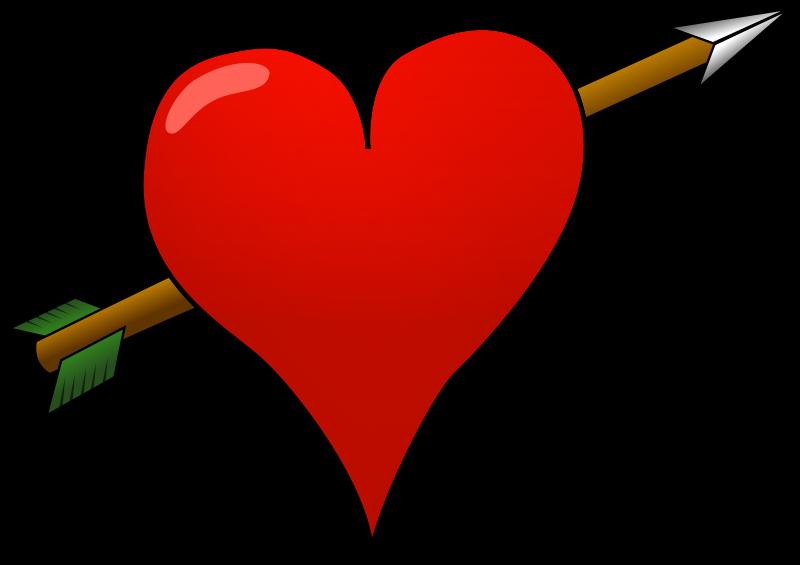 Queen of hesrts arrow clipart clip art transparent download Heart | Free Stock Photo | Illustration of a red heart with an arrow ... clip art transparent download