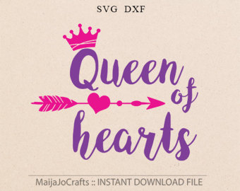 Queen of hesrts arrow clipart graphic library Queen of hearts | Etsy graphic library