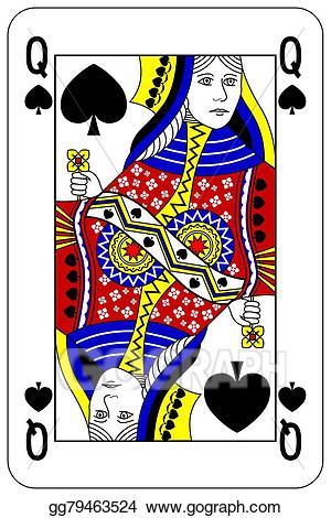 Queen of spades clipart clipart transparent stock Vector Stock - Poker playing card queen spade. Stock Clip ... clipart transparent stock