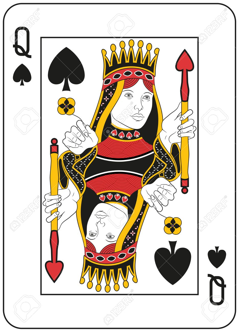 Queen of spades clipart vector library stock Kings And Queens Clipart | Free download best Kings And ... vector library stock