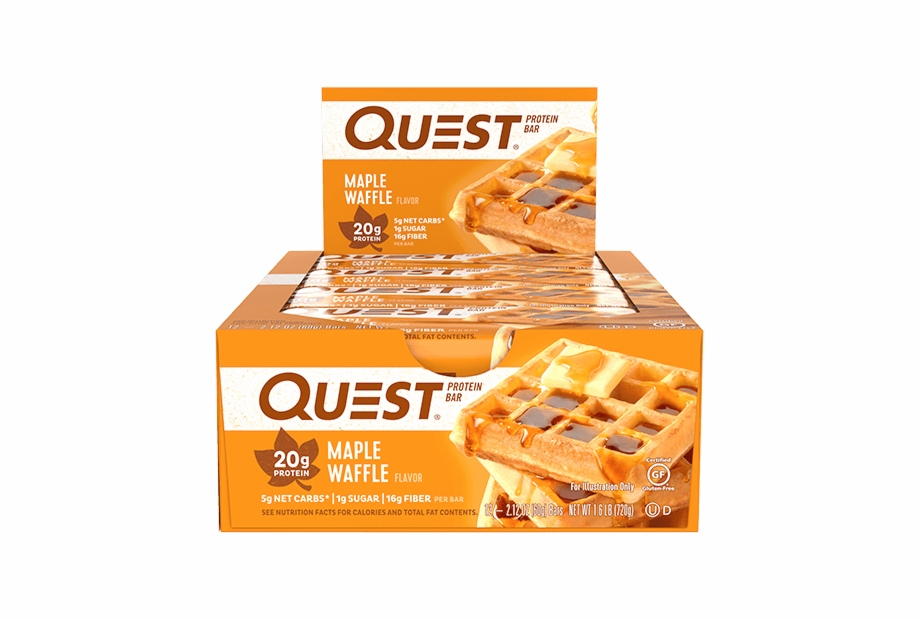 Quest bar clipart image free stock Maple Waffle Protein - Quest Bars Chocolate Peanut Butter ... image free stock