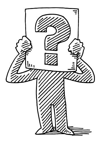 Question mark made out of medication clipart svg transparent Cartoon Man Holding Sign Question Mark Drawing | Signs ... svg transparent