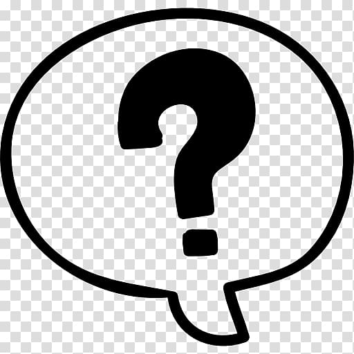 Question thought bubble clipart black and white png royalty free library Question mark Speech balloon Drawing, doubt transparent ... png royalty free library