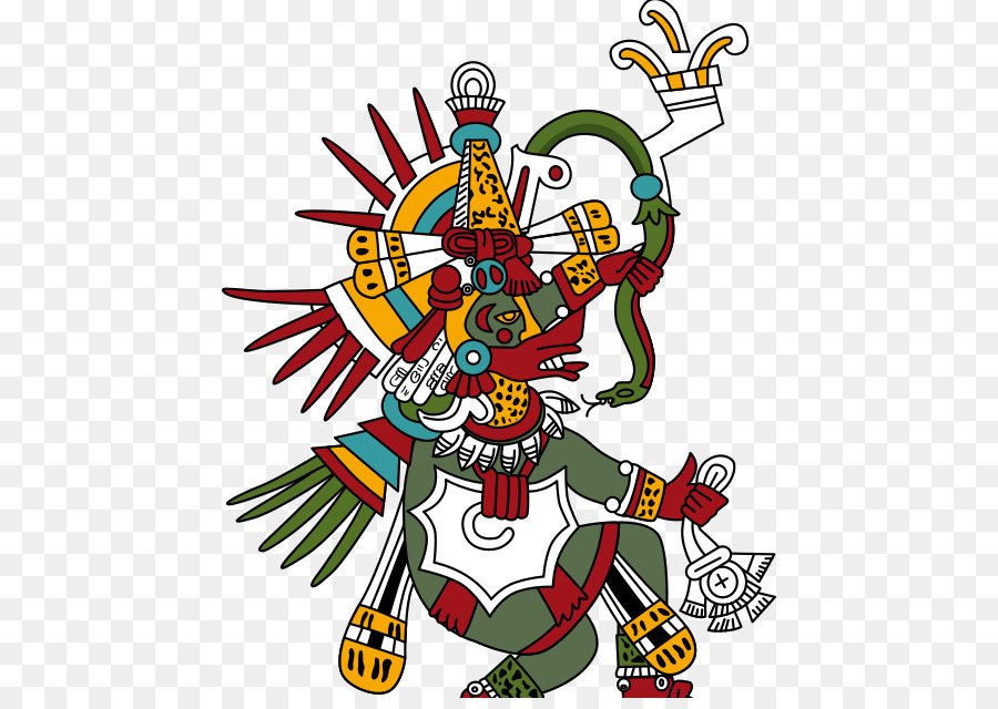 Quetzalcoatl clipart picture free library Flower Line Art png download - 500*630 - Free Transparent ... picture free library