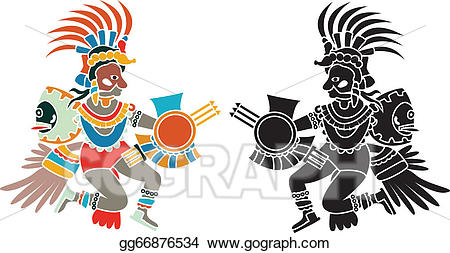 Quetzalcoatl clipart clip art EPS Vector - Quetzalcoatl stencil. Stock Clipart ... clip art