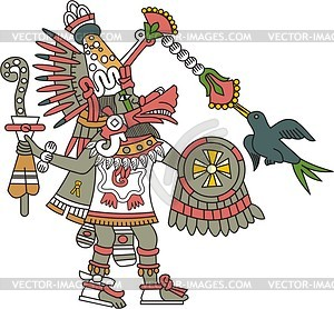 Quetzalcoatl clipart graphic freeuse download Aztec god Quetzalcoatl - vector clipart / vector image graphic freeuse download