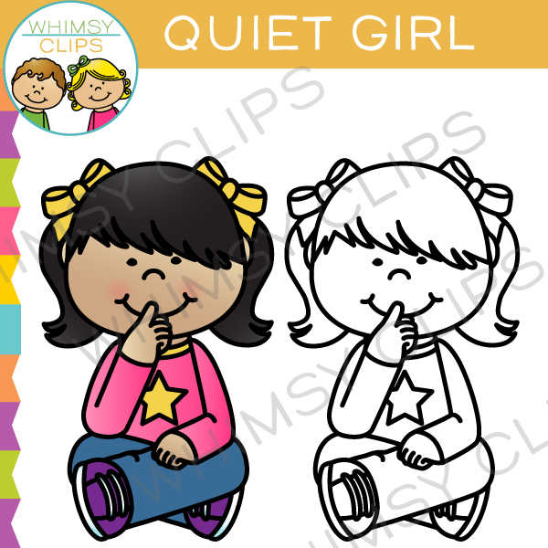 Quiet girl clipart clip royalty free Quiet Girl Clip Art clip royalty free