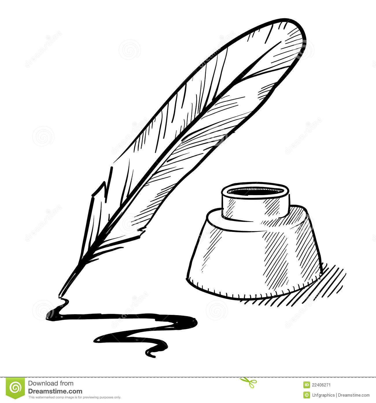 Scroll and quill clipart graphic free Images For > Feather Pen And Scroll Clip Art | Scraps/PNG\'s ... graphic free