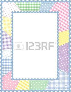 Quilt clipart borders svg transparent stock Free Quilting Clip Art | Patchwork Quilt Frame - royalty ... svg transparent stock