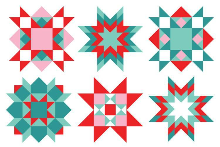 Quilt square clipart png stock Christmas Quilt Square Clip Art - Hey, Let\'s Make Stuff png stock