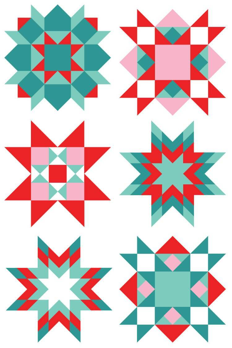 Quilt square clipart vector royalty free library Christmas Quilt Square Clip Art - Hey, Let\'s Make Stuff vector royalty free library