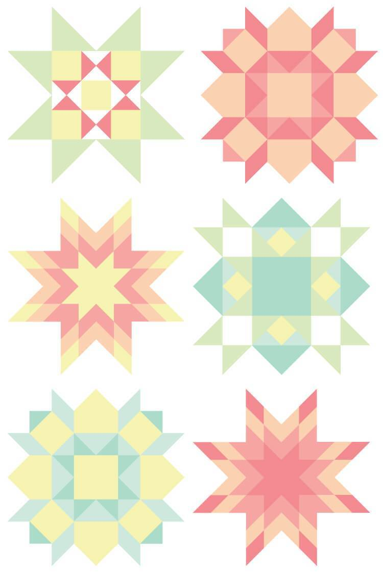 Quilt square clipart banner freeuse library Quilt Block Clip Art -- FREE Download, 9 PNG files banner freeuse library
