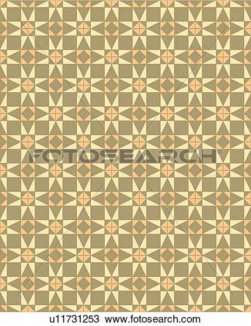 Quilting star patterns clipart picture freeuse Clipart of Quilt star brown peach background pattern u11731253 ... picture freeuse