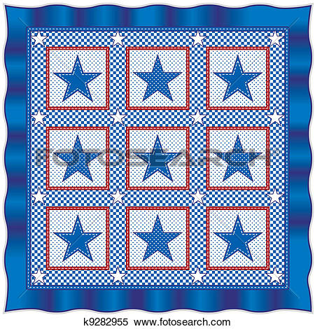 Quilting star patterns clipart png transparent stock Clipart of Stars and Stripes Quilt k9282955 - Search Clip Art ... png transparent stock