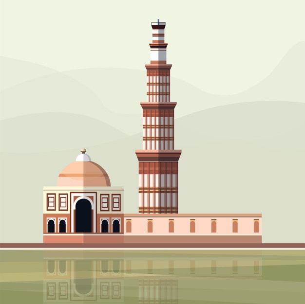 Qutab minar clipart svg royalty free Qutub Minar Vectors, Photos and PSD files | Free Download svg royalty free