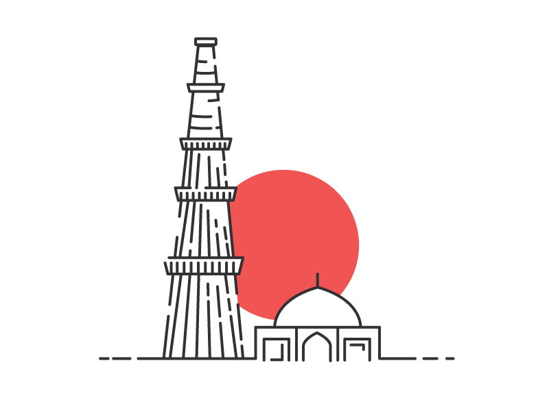 Qutab minar clipart clipart library library Qutub Minar by Mohit Kumar Singh on Dribbble clipart library library