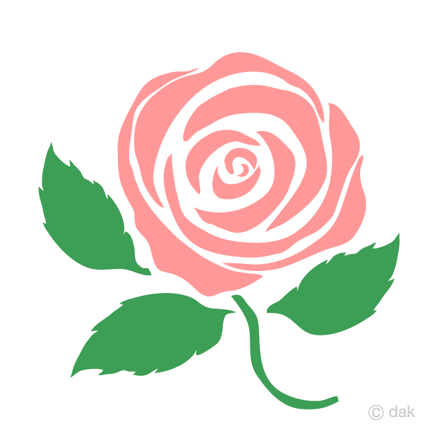 R9ose clipart clip royalty free stock Simple Pink Rose Clipart Free Picture|Illustoon clip royalty free stock