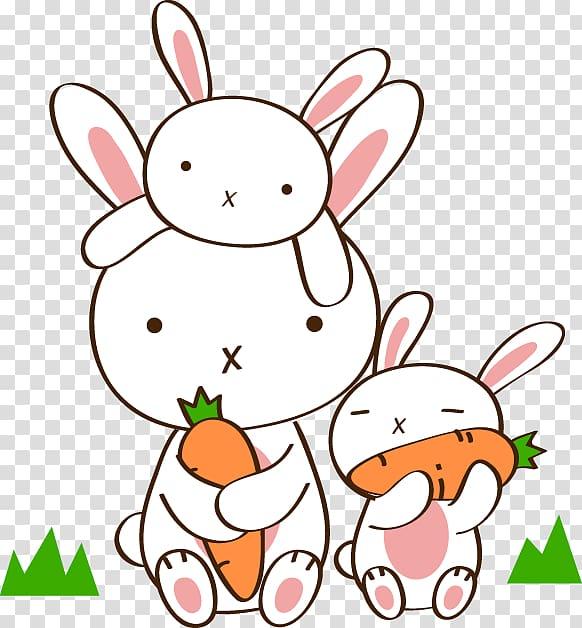 Rabbit and radish clipart black and white image royalty free White rabbits holding carrot, Hot pot Eating Carrot Radish ... image royalty free