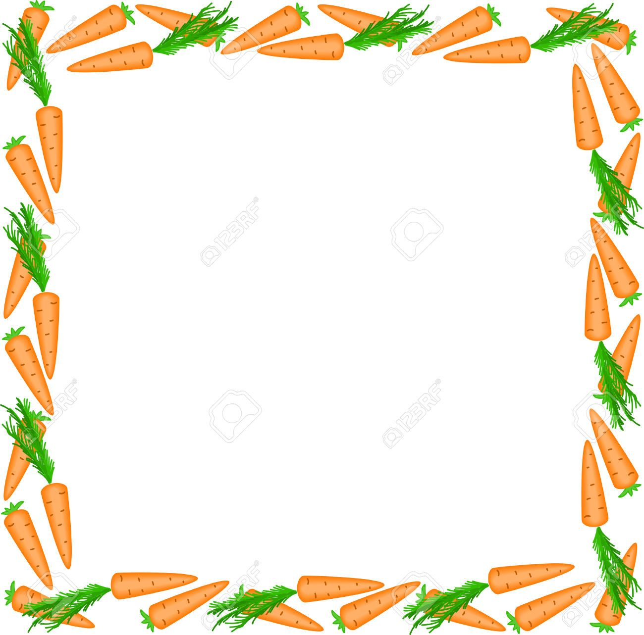 Rabbit border clipart image royalty free download Carrot clipart border #11 | Bunny Crafts | Page borders ... image royalty free download