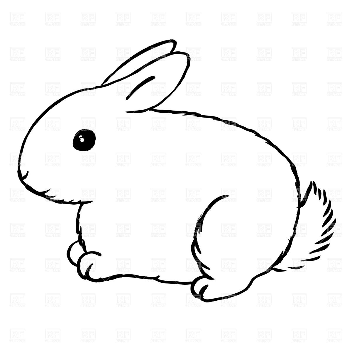 Rabbit clipart black and white jpg free library drawings of rabbits and bunnies | Use these free images for ... jpg free library