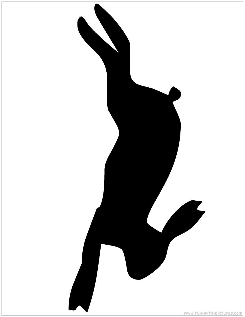 Hare Silhouette - A printable silhouette from Fun with ... banner transparent download