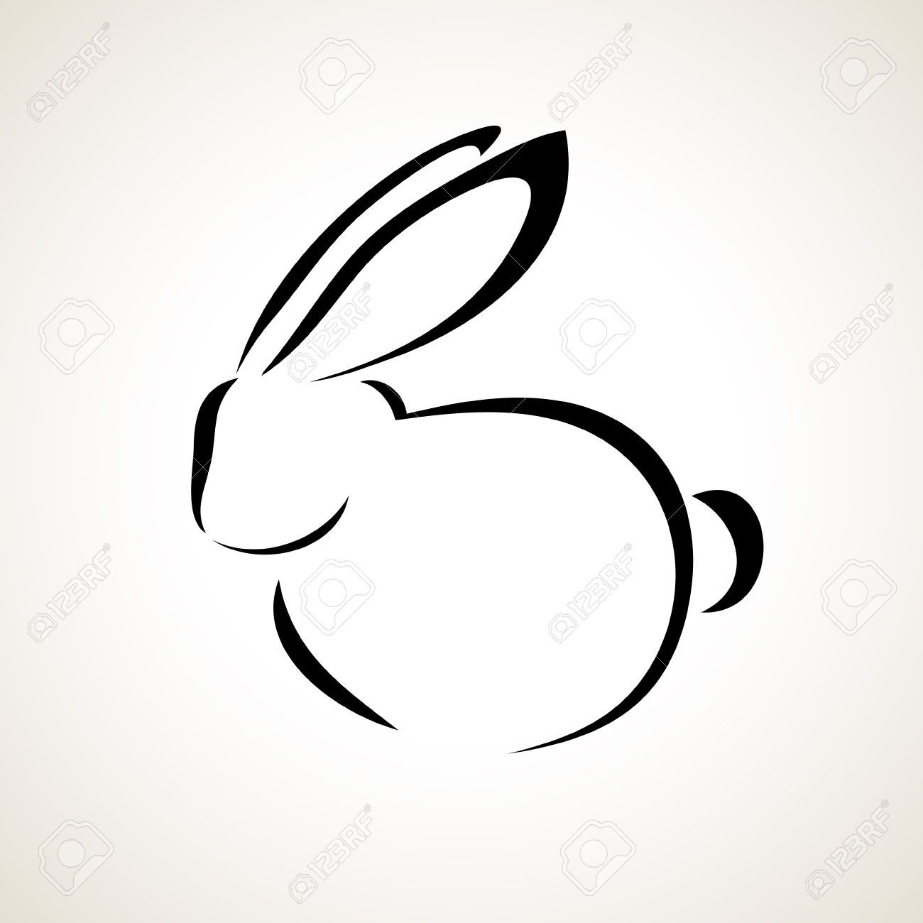 rabbit outline drawing - Google Search … | bunnies | Outli… vector library