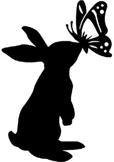 31 Best Silhouettes Rabbit Silhouettes images in 2019 ... picture black and white library