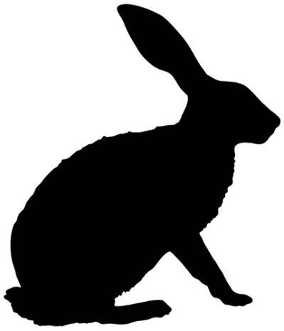Rabbit Silhouette Bunny Outline | Bunnies | Animal ... vector transparent library