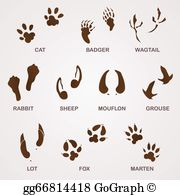 Rabbit Tracks Clip Art - Royalty Free - GoGraph picture transparent stock